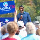 Barack Obama - August 2007 - New Hampshire by Roslyn Lunetta