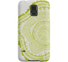 Chartreuse Tree Rings Samsung Galaxy Case/Skin