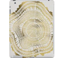 Gold Tree Rings iPad Case/Skin