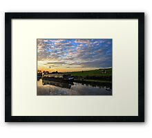 Narrowboat on the Oxford Canal Framed Print