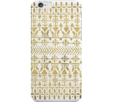 Norwegian Pattern in Gold iPhone Case/Skin