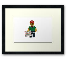 LEGO Pizza Delivery Guy Framed Print