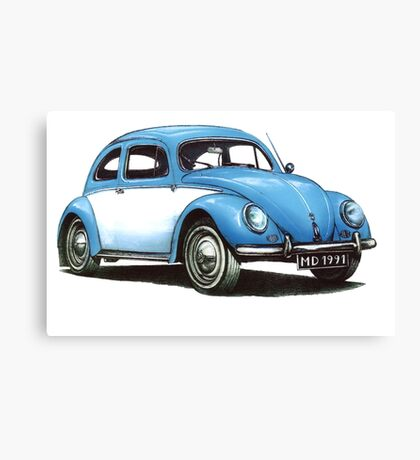 1954 Volkswagen Beetle Canvas Print