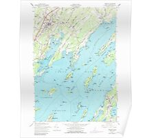 Maine USGS Historical Map Freeport 105148 1957 24000 Poster