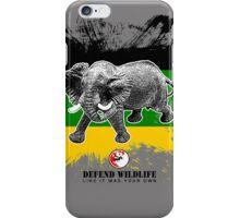 defend elephants iPhone Case/Skin