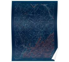 Maine USGS Historical Map Freeport 306570 1892 62500 Inversion Poster