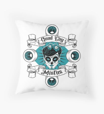 Quad City Misfits Throw Pillow