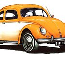 1954 Volkswagen Beetle by mrclassic