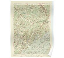 Maine USGS Historical Map Freeport 306571 1944 62500 Poster