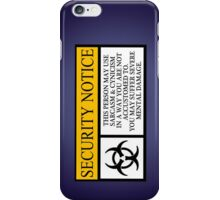 I.T HERO - Security Notice iPhone Case/Skin