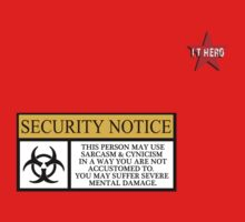 I.T HERO - Security Notice Kids Tee