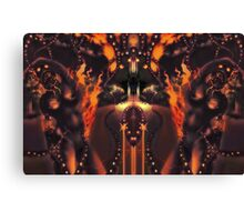 Android Initialise [Digital Figure Illustration] Fiery Version Canvas Print
