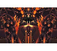 Android Initialise [Digital Figure Illustration] Fiery Version Photographic Print