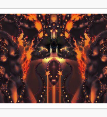 Android Initialise [Digital Figure Illustration] Fiery Version Sticker