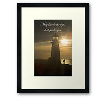 May Love Be The Light.... Framed Print