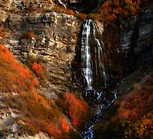 Bridal Veil Falls, Provo Canyon, Autumn by Ryan Houston