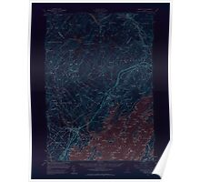 Maine USGS Historical Map Freeport 306574 1957 62500 Inversion Poster