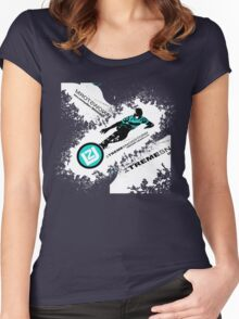 snow ski Women's Fitted Scoop T-Shirt