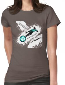 snow ski Womens Fitted T-Shirt