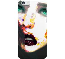 Girl with the green eyes iPhone Case/Skin