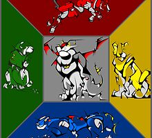 From Days of Long Ago.....Cubist Voltron by PartyMoth59