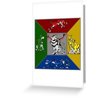 From Days of Long Ago.....Cubist Voltron Greeting Card
