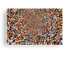 """""""Breaking Bad"""" Edition of """"The Work"""" 3200 Faces Collage. Canvas Print"""