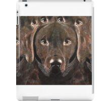 Abstract Chocolate Labrador iPad Case/Skin