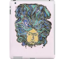 drawing of art nouveau sculpture of a face iPad Case/Skin
