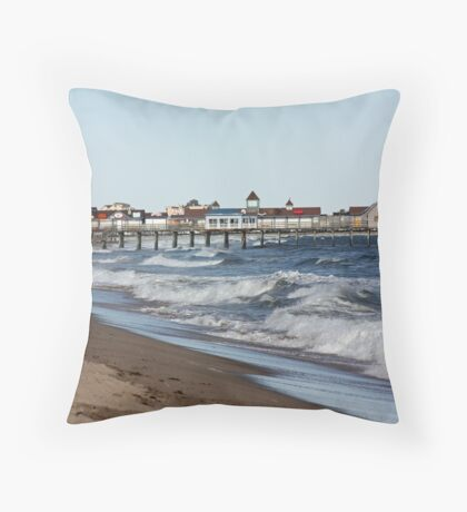Old Orchard Beach, Maine Throw Pillow