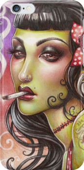 Zombies can smoke by Medusa Dollmaker