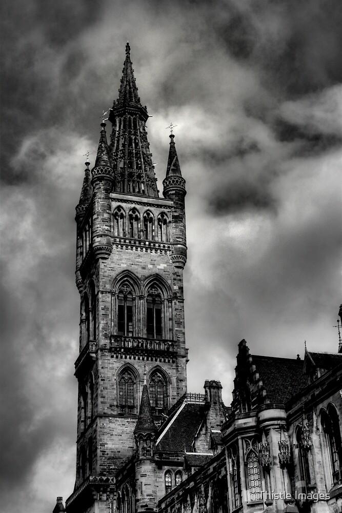 Glasgow University Tower by Linda  Morrison