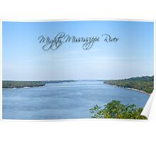 The Mighty Mississippi River Poster