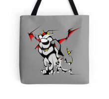 Black Voltron Lion Cubist Tote Bag