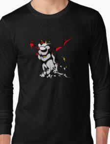Black Voltron Lion Cubist Long Sleeve T-Shirt