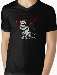 Black Voltron Lion Cubist Mens V-Neck T-Shirt