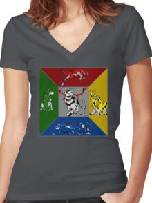 From Days of Long Ago.....Cubist Voltron Women's Fitted V-Neck T-Shirt