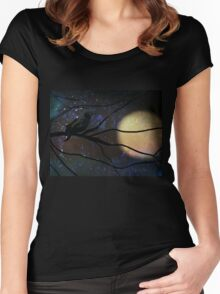 Because It's Halloween I Women's Fitted Scoop T-Shirt