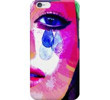 Girl with the tear eyes iPhone Case/Skin