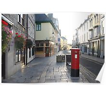 Red Letterbox Plymouth Barbican Poster