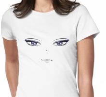 Cartoon female face 2 Womens Fitted T-Shirt