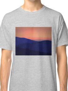 Orange Sorbet Sky and Blue Mountains Classic T-Shirt