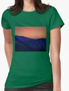 Orange Sorbet Sky and Blue Mountains Womens Fitted T-Shirt