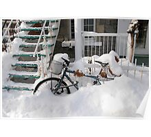 Montreal - Snow bike Poster