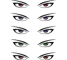 Cartoon male eyes Photographic Print