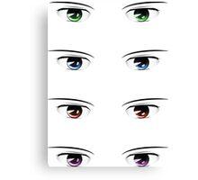 Cartoon male eyes 2 Canvas Print