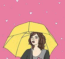 Raining hearts by stardixa
