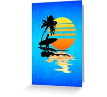 Surfing Sunrise Greeting Card