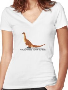 Pixel Falcarius Women's Fitted V-Neck T-Shirt