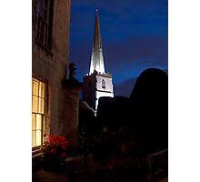 """Evening Illuminations of the Spire"" Photographic Print"